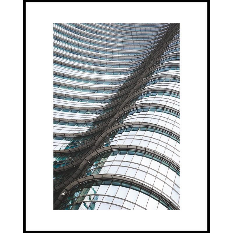 Jacek Durski, sprzedaż fotografii artystycznej – Architektura – Mediolan, Fale szkła (kolor)